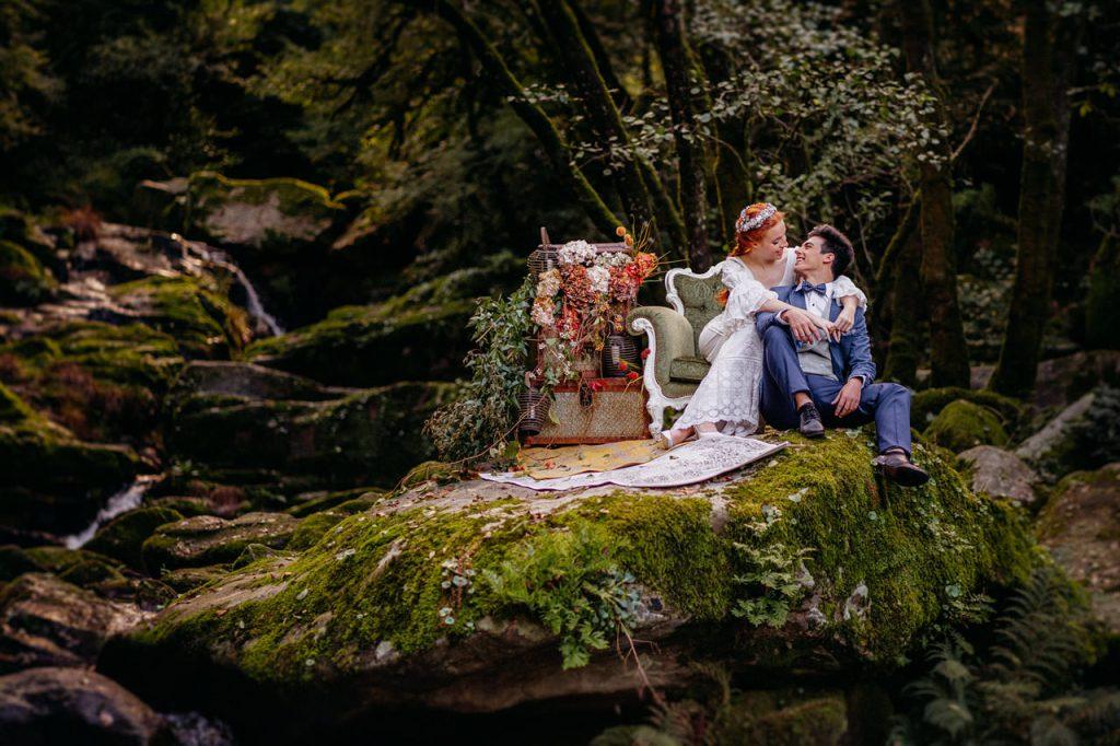 Elopement en Cascada del Toxa | Ale & Fer