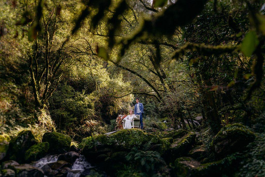 elopement en Cascada del Toxa