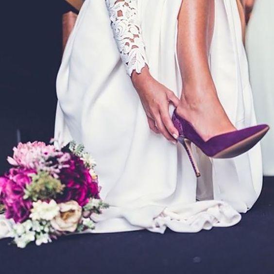 zapato novia fucsia