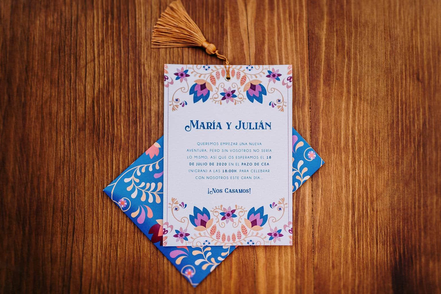 invitaciones de boda letra bonita